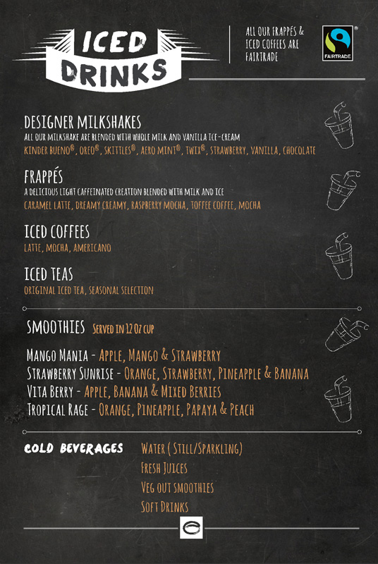 Our Food  Beverages Menu  Esquires Coffee Ireland